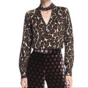 Trina Turk animal print blouse